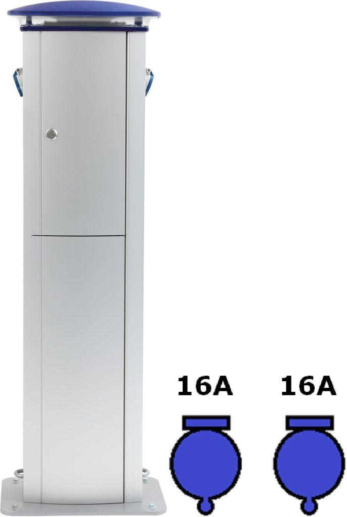 Wimpel Omega 2x16A ut, 400V inn