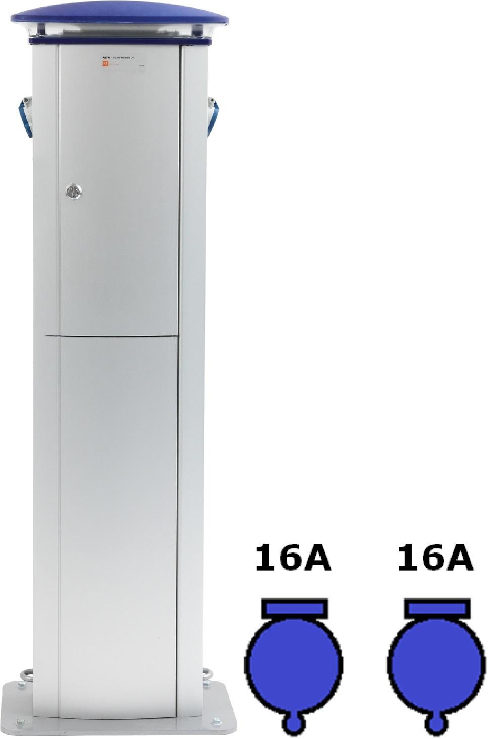 Wimpel Omega 2x16A ut, 230V inn