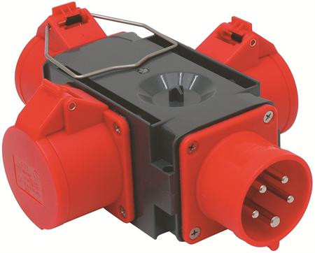 Wimpel 400V 16A 3-fas 0m IP44