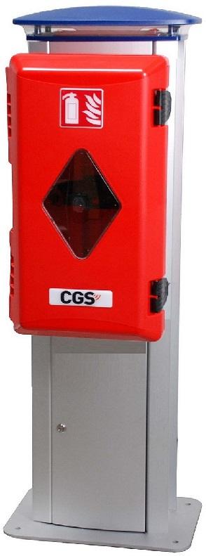 Wimpel Omega brannsøyle 230-400V inn, LED