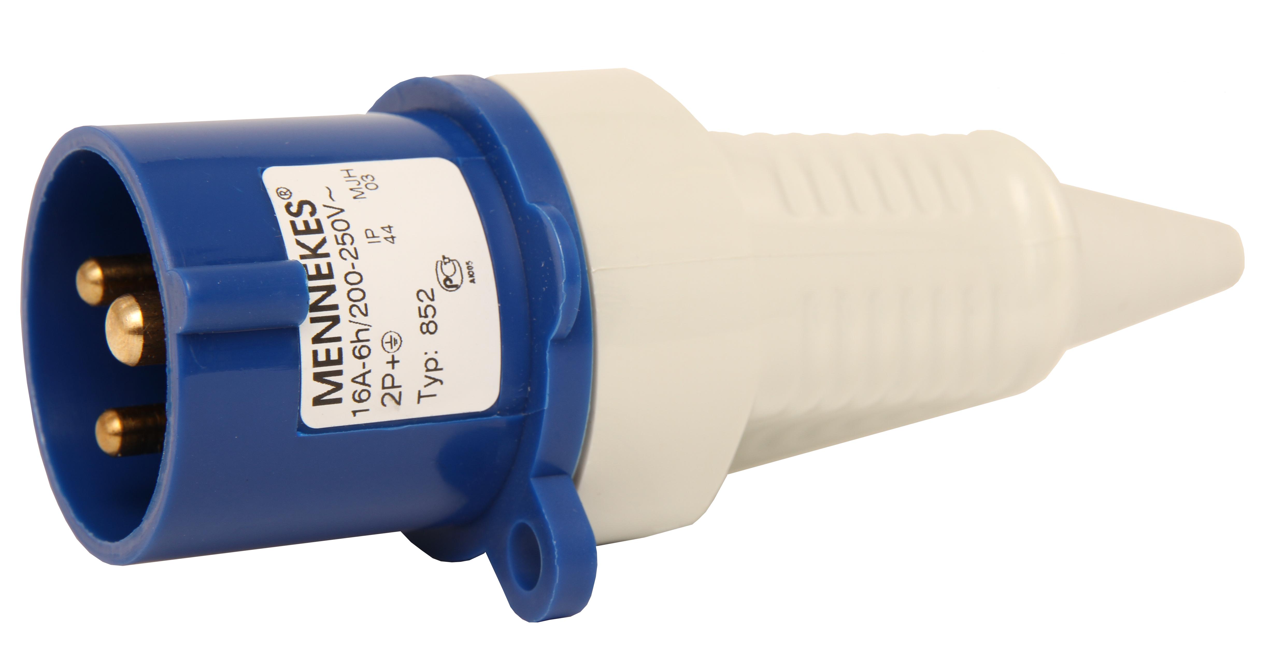 Wimpel Omega tilbehør: Plugg 16A, 216-6, 230V, låsbar, IP44