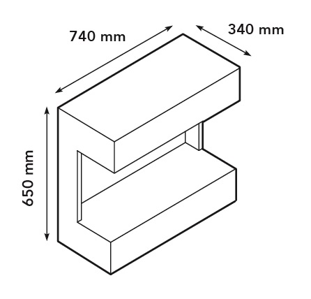 Wimpel Ruby Umbria 5820B veggmodell hvit