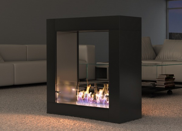 Wimpel Sydney gulvmodell sort med børstet innside