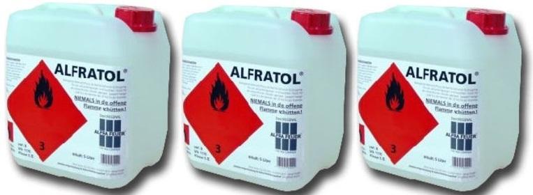 Bioetanol – 3 stk 5 liters kanner