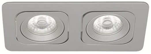 LED Square Planet MD-125 – 2x6W satin IP21