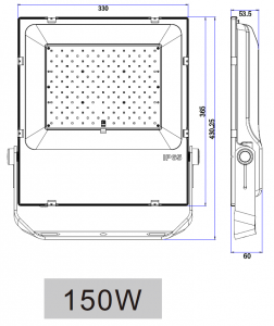 Wimpel FloodPro lyskaster 150W LED IP65