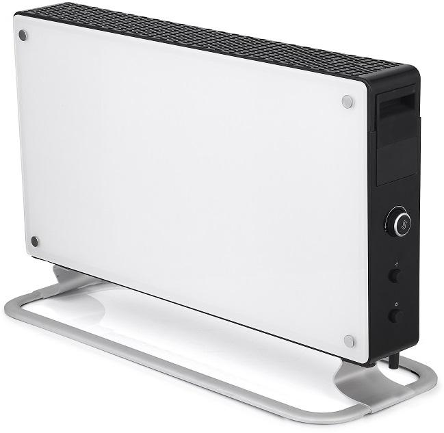 Glassovn 2000W hvit/sort, elektronisk termostat