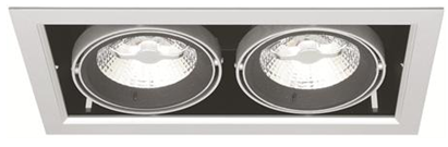 LED Silver Mountain MD-250 – 2x10W sølv IP21