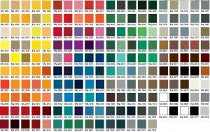 RAL fargekart