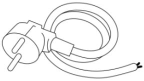 Eltra E-200 tilbehør: Kabel med plugg