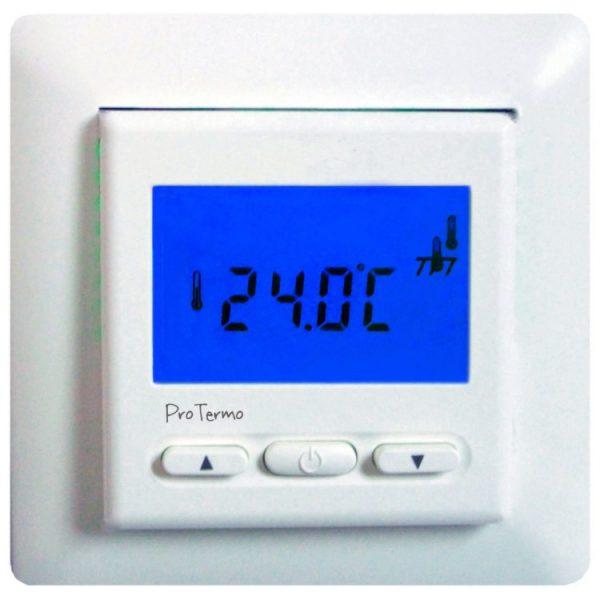Termostat med display uten tidsstyring