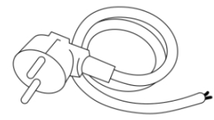 Eltra E-200 uten ramme tilbehør: Kabel med plugg