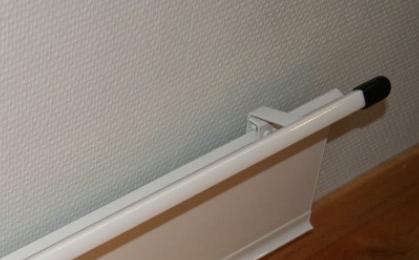 FX-serien tilbehør: Gardinavstandslist 365cm hvit