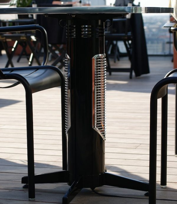 Wimpel Proff Spisebord 400W sort IP44 med avlang bordplate