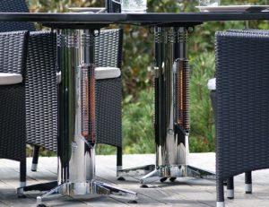 Wimpel Proff Spisebord Twin 2x400W sort IP44 med avlang bordplate