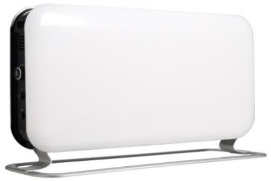 Eker Design 2000W hvit/sort, elektronisk termostat
