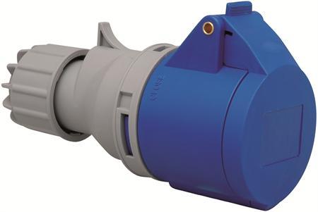 Wimpel 230V 16A 2-fas IP44 (med lokk)