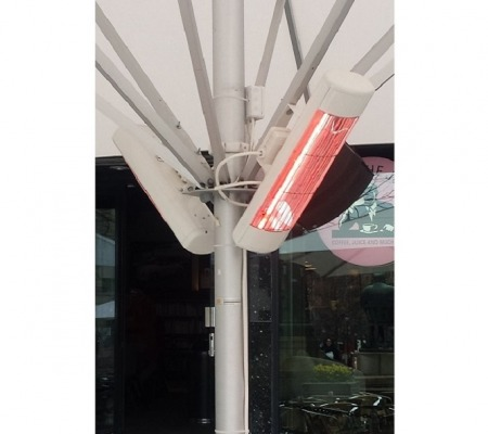 Terrassevarmer - Wimpel GO 1500W hvit IP55 miljø 3 - TIL WEB