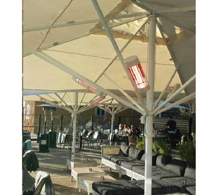 Terrassevarmer - Wimpel GO 1500W hvit IP55 miljø - TIL WEB