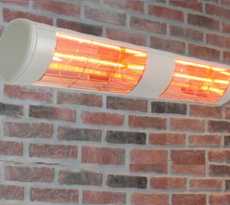 Terrassevarmer - Wimpel GO 3000W hvit IP55 på vegg - TIL WEB
