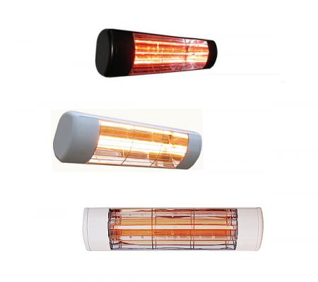 Terrassevarmer - Wimpel LG og GO sort, sølv og hvit - TIL WEB