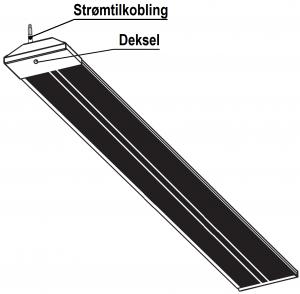 Wimpel Tak/Vegg/Vinkel BA-2 2000W IP54 sort