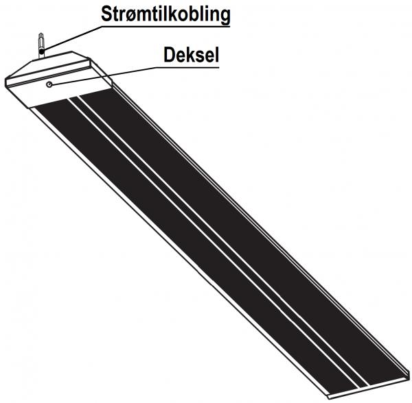 Wimpel Tak/Vegg/Vinkel BA-2 600W IP54 hvit