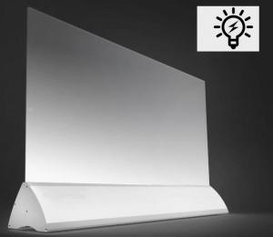 Wimpel Transparent Gulv 600W sølv LED
