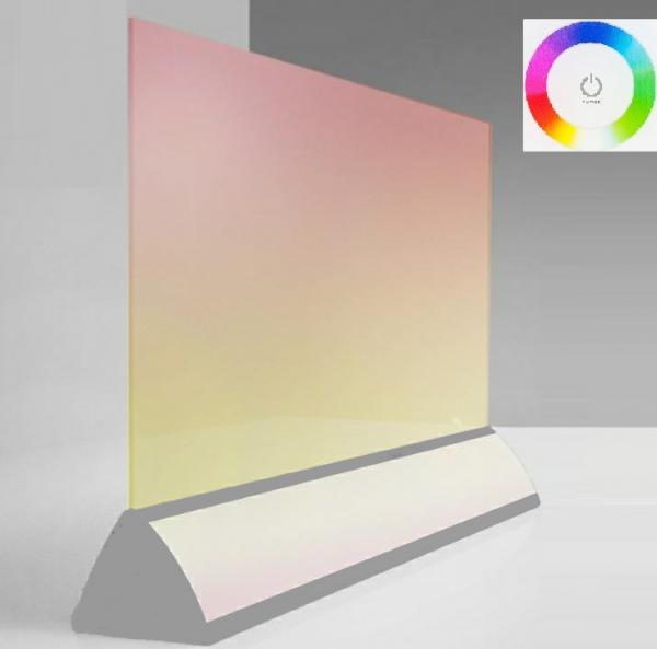 Wimpel Transparent Gulv 500W sølv LED RGB