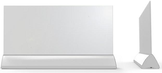 Wimpel Transparent Gulv 600W sølv