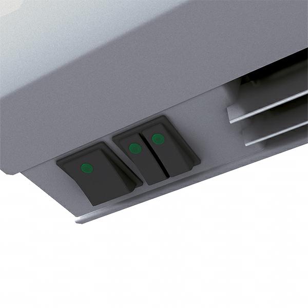 Wimpel Kompakt 2,5/5kW for høyder opp til 2,5m hvit