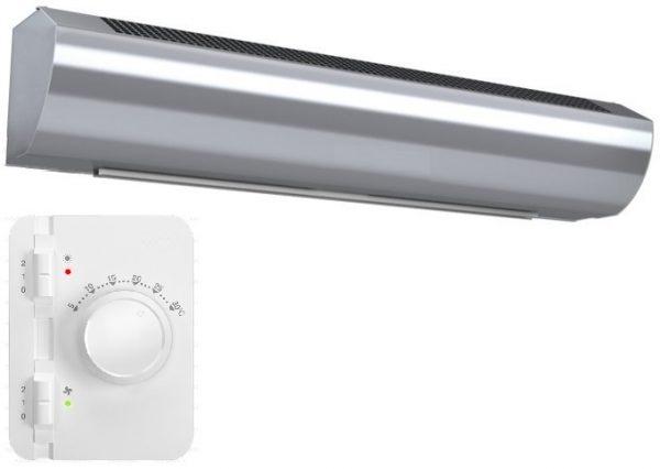 Wimpel Kompakt 4,5/9kW for høyder opp til 2,5m sølv
