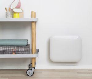 Eker Design 250W hvit, elektronisk termostat