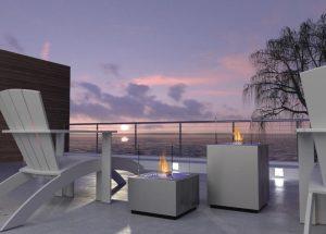 Decoflame Monaco Square Tower gulvmodell sort