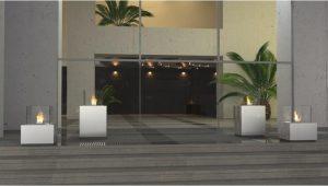Decoflame Monaco Square Lounge gulvmodell sort