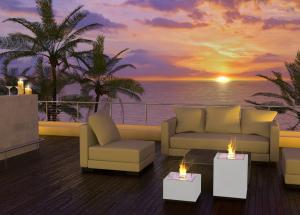 Decoflame Monaco Square Lounge gulvmodell hvit
