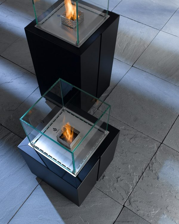 Decoflame Monaco Square Tower gulvmodell sort