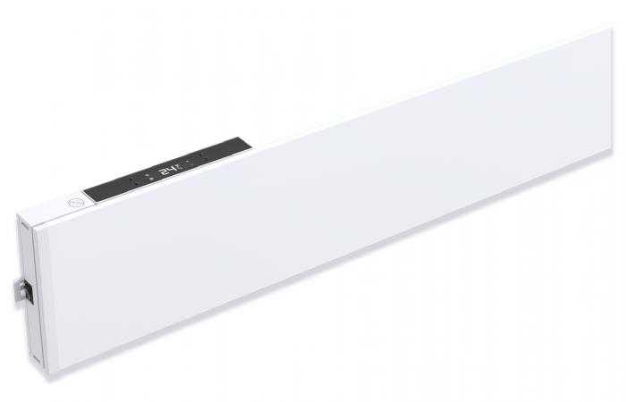 Varmelist - FX16p hvit med termostatplugg 1 skygge