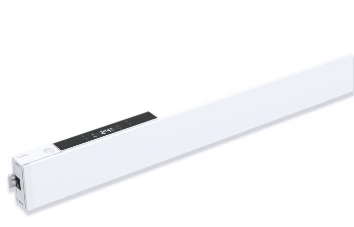 Varmelist - FX8p hvit med termostatplugg 1 skygge