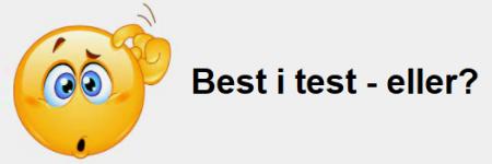 Best i test - eller